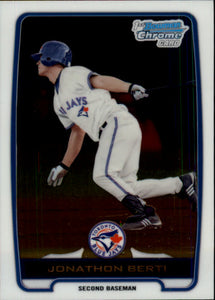 2012 Bowman Chrome Prospects Jonathan Berti Toronto Blue Jays