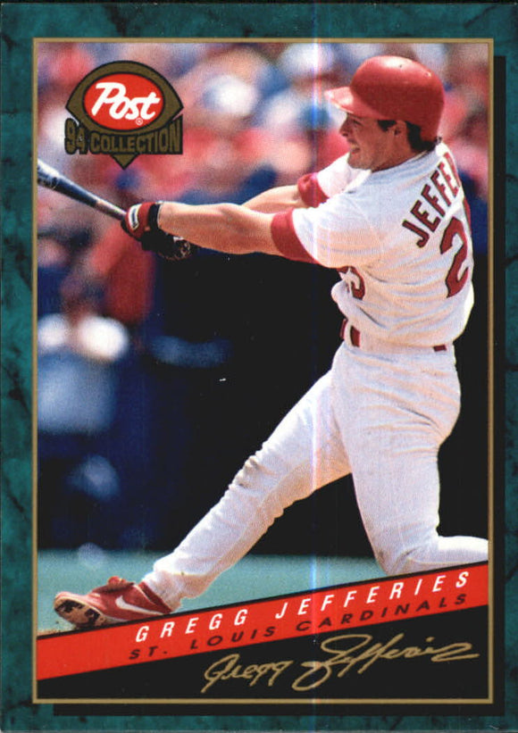 1994 Post Cereal Gregg Jefferies St Louis Cardinals