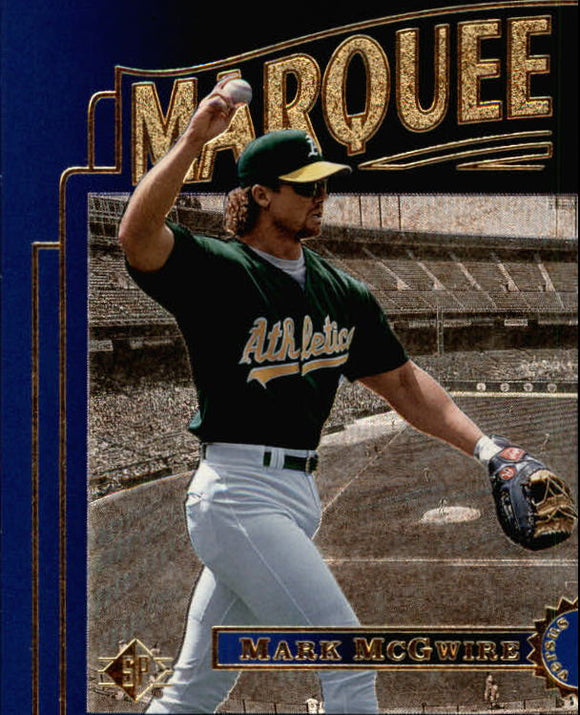 1996 SP Marquee Matchups Mark McGwire Oakland Athletics