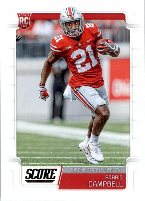 2019 Score Parris Campbell Rookie Card Indianapolis Colts