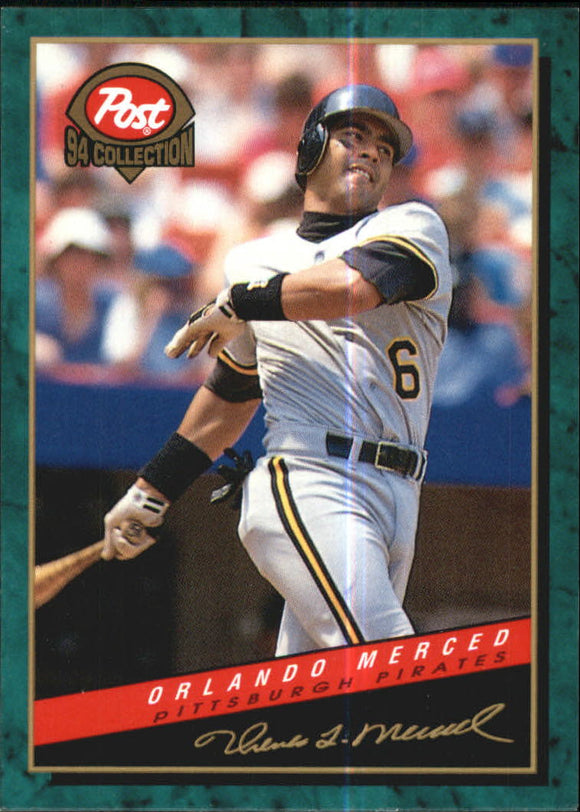 1994 Post Cereal Orlando Merced Pittsburgh Pirates