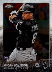 2015 Topps Chrome Micah Johnson Rookie Card Chicago White Sox