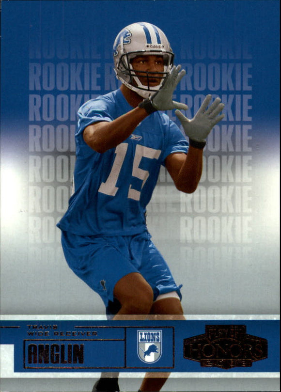 2003 Playoff Honors /550 Travis Anglin Rookie Card Detroit Lions