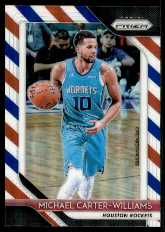 2018-19 Panini Prizm Prizms Red White And Blue Michael Carter-Williams Houston Rockets
