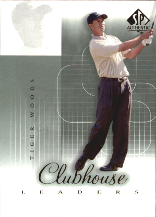 2002 SP Authentic Tiger Woods Clubhouse Leaders