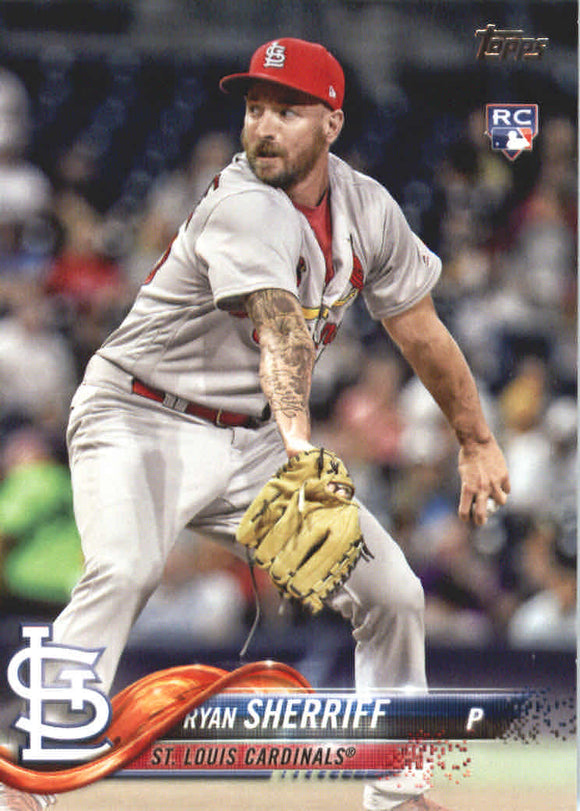 2018 Topps Ryan Sherriff Rookie Card St Louis Cardinals