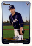 2012 Bowman Michael Fiers Rookie Card Milwaukee Brewers