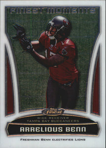 2010 Topps Finest Moments Arrelious Benn Rookie Card Tampa Bay Buccaneers