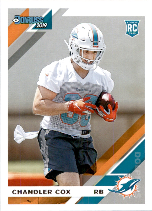 2019 Donruss Chandler Cox Rookie Card Miami Dolphins