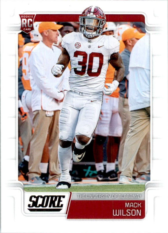 2019 Score Mack Wilson Rookie Card Cleveland Browns