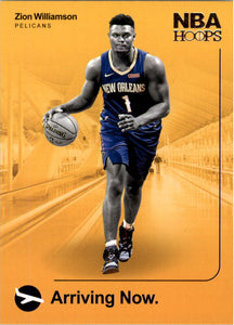 2019-20 Panini Hoops Arriving Now Zion Williamson Rookie Card New Orleans Pelicans