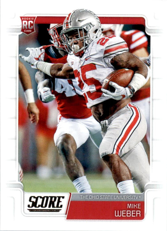 2019 Score Mike Weber Rookie Card Dallas Cowboys