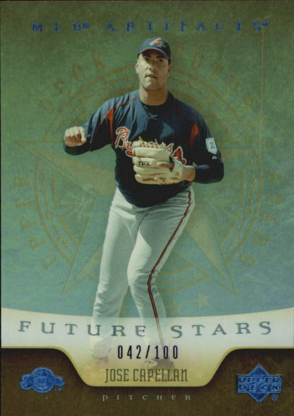 2005 Upper Deck Artifacts Rainbow Blue /100 Jose Capellan Future Stars Milwaukee Brewers