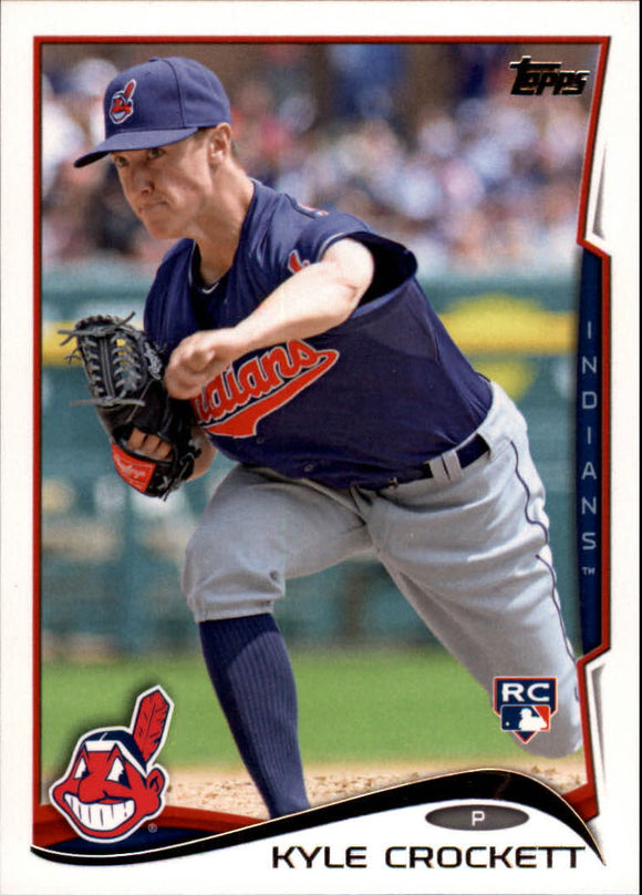 2014 Topps Update Kyle Crockett Rookie Card Cleveland Indians