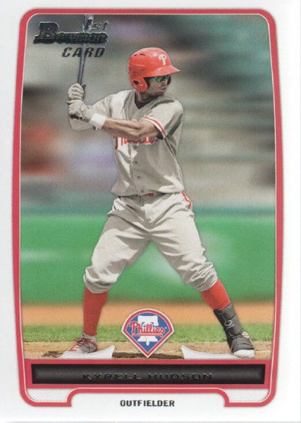 2012 Bowman Prospects Kyrell Hudson Philadelphia Phillies