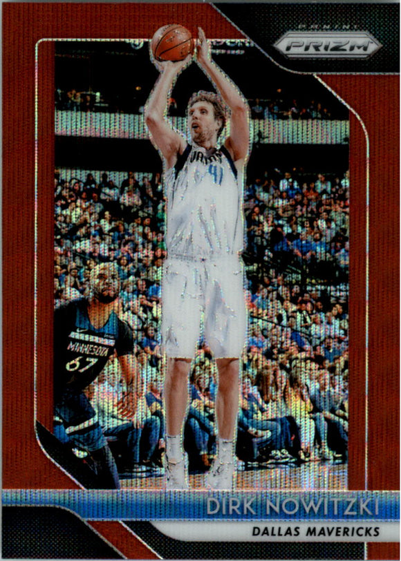 2018-19 Panini Prizm Prizms Ruby Wave Dirk Nowitzki Dallas Mavericks