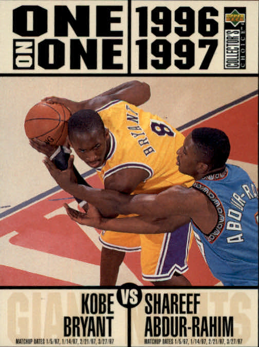 1996-97 Collector's Choice Kobe Bryant/Shareef Abdur-Rahim One On One Los Angeles Lakers