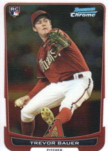 2012 Bowman Chrome Trevor Bauer Rookie Card Arizona Diamondbacks