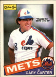 1985 O-Pee-Chee Gary Carter New York Mets