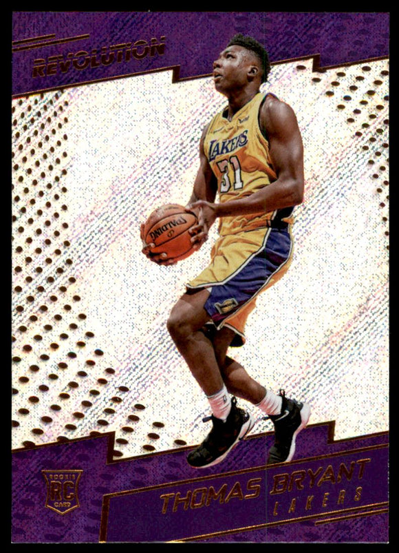 2017-18 Panini Revolution Thomas Bryant Rookie Card Los Angeles Lakers