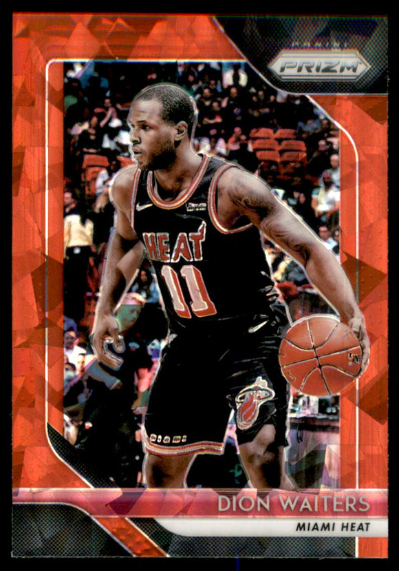 2018-19 Panini Prizm Prizms Red Ice Dion Waiters Miami Heat