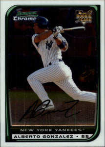2008 Bowman Chrome Alberto Gonzalez Rookie Card New York Yankees