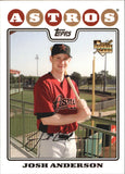 2008 Topps Josh Anderson Rookie Card Houston Astros