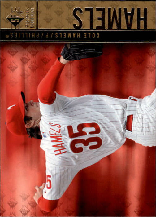 2007 Upper Deck SP Rookie Edition Cole Hamels Philadelphia Phillies