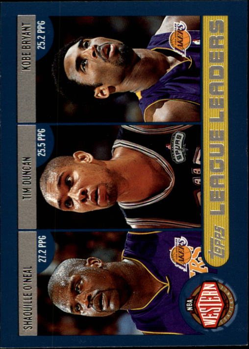 2002-03 Topps Shaquille O'Neal/Tim Duncan/Kobe Bryant/Allen Iverson/Paul Pierce/Tracy McGrady