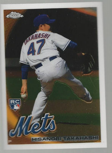 2010 Topps Chrome Hisanori Takahashi Rookie Card New York Mets