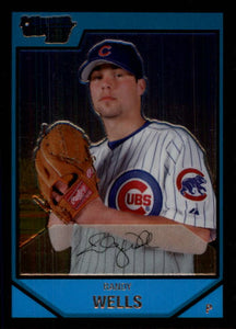 2007 Bowman Chrome Prospects Randy Wells Chicago Cubs