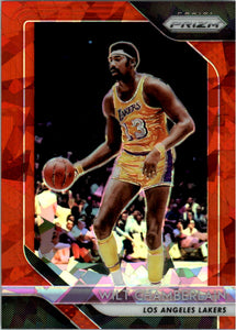 2018-19 Panini Prizm Prizms Red Ice Wilt Chamberlain Los Angeles Lakers