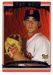 2006 Topps Update David Pauley Rookie Card Boston Red Sox