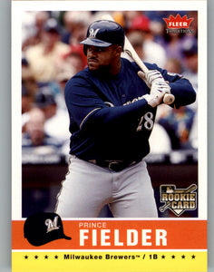 2006 Fleer Tradition Prince Fielder Rookie Card Milwaukee Brewers