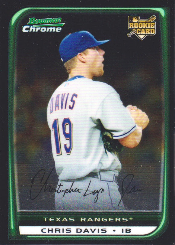 2008 Bowman Chrome Draft Chris Davis Rookie Card Texas Rangers