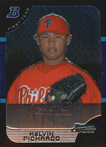 2005 Bowman Chrome Kelvin Pichardo Rookie Card Philadelphia Phillies