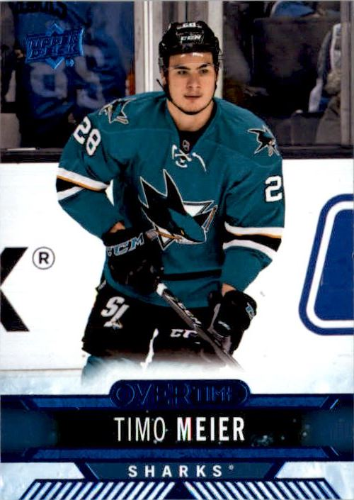 2017-18 Upper Deck Overtime Blue Timo Meier San Jose Sharks