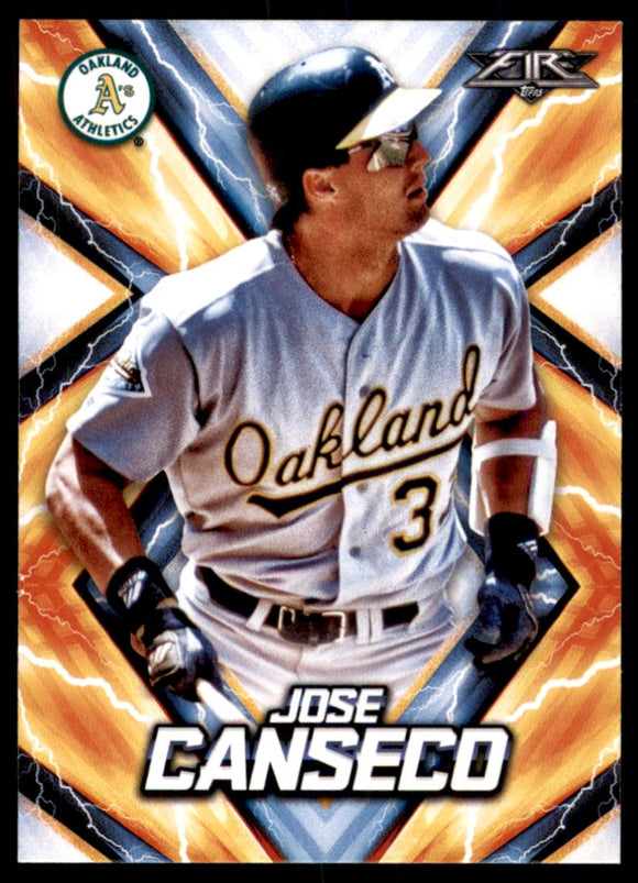 2017 Topps Fire Jose Canseco Oakland Athletics