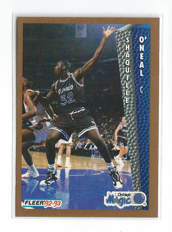 1992-93 Fleer Shaquille O Neal Rookie Card Orlando Magic