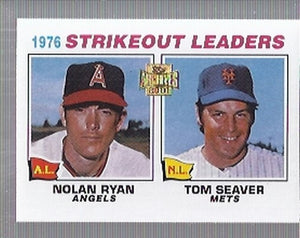 2001 Topps Archives Nolan Ryan/Tom Seaver 1977 Strikeout Leaders