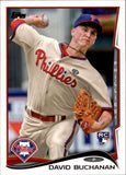 2014 Topps Update David Buchanan Rookie Card Philadelphia Phillies