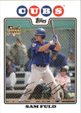 2008 Topps Sam Fuld Rookie Card Chicago Cubs