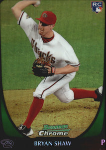 2011 Bowman Chrome Draft Refractor Bryan Shaw Arizona Diamondbacks