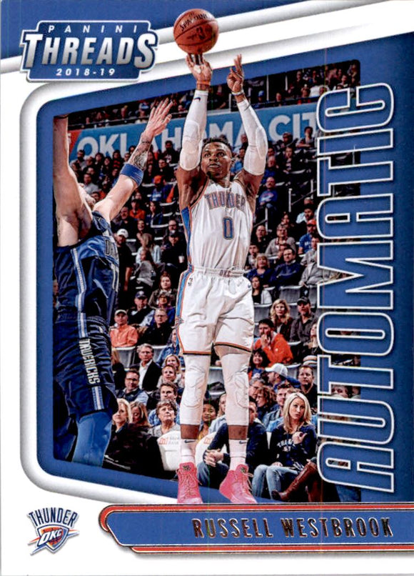 2018-19 Panini Threads Automatic Russell Westbrook Oklahoma City Thunder