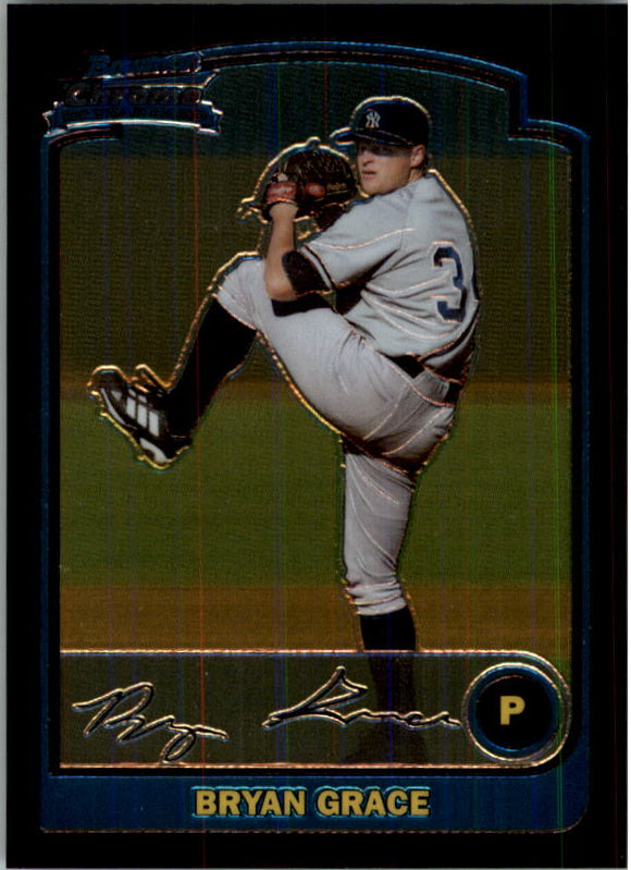 2003 Bowman Chrome Bryan Grace Rookie Card New York Yankees
