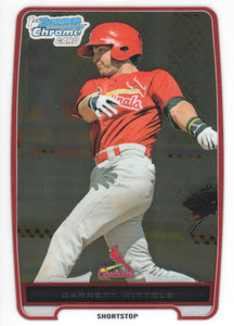 2012 Bowman Chrome Prospects Garrett Wittels St Louis Cardinals