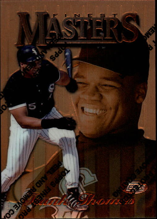 1997 Topps Finest Masters Frank Thomas Chicago White Sox