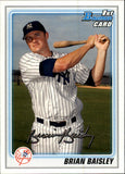 2010 Bowman Prospects Brian Baisley Rookie Card New York Yankees