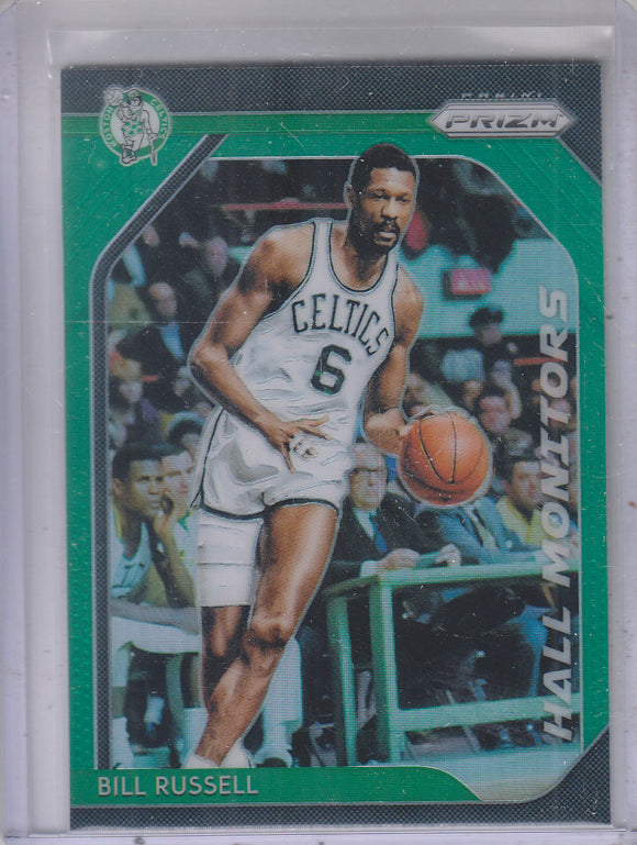 2018-19 Panini Prizm Prizms Hall Monitors Green Bill Russell Boston Celtics
