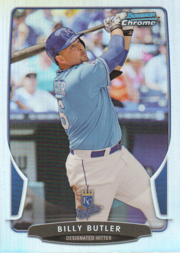2013 Bowman Chrome Billy Butler Refractor Kansas City Royals